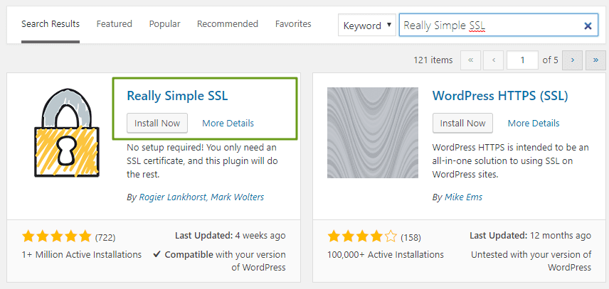 Install and Activate Really Simple SSL